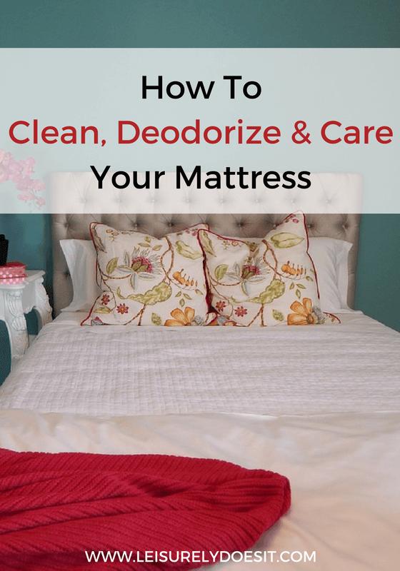 how to clean dirt off mattress