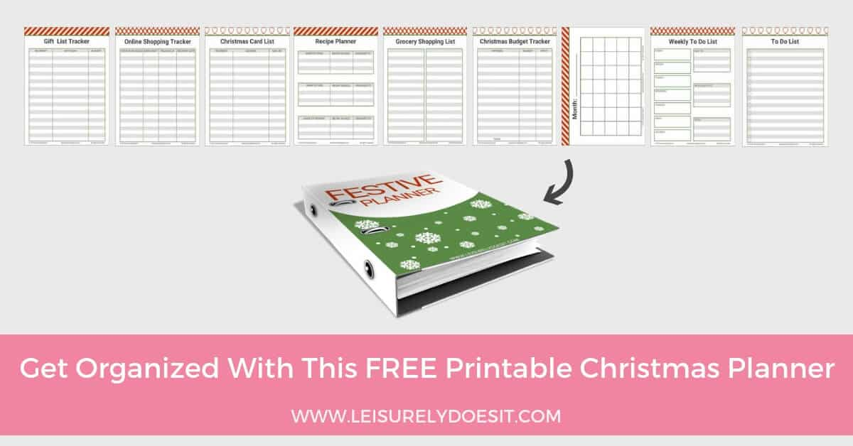 how to make a festive planner with free christmas planner printables
